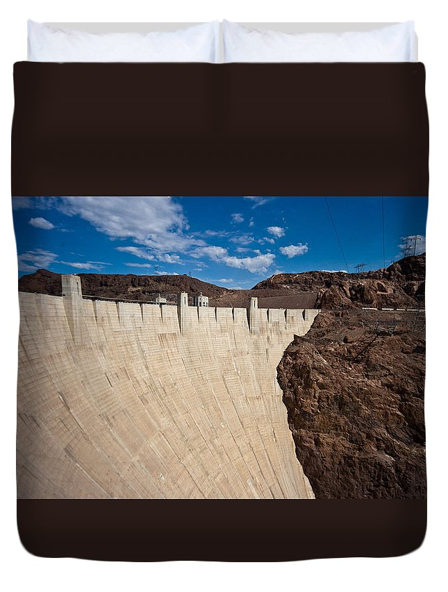 Hoover Dam Duvet Cover featuring the photograph Hoover Dam by Robert J Caputo