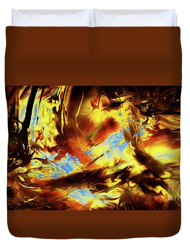 Abstract Duvet Cover featuring the digital art Hope Above Broken Skies by Kyle Wood