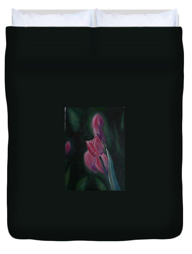 Tulips Duvet Cover featuring the painting Hope by Geeta Biswas