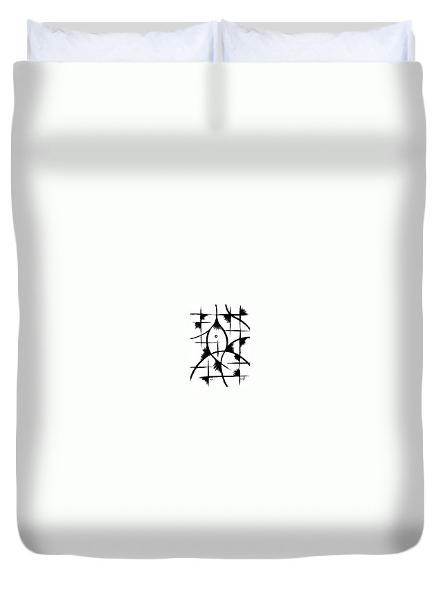 Modernist - Contemporany Duvet Cover featuring the drawing Hope I by Arides Pichardo