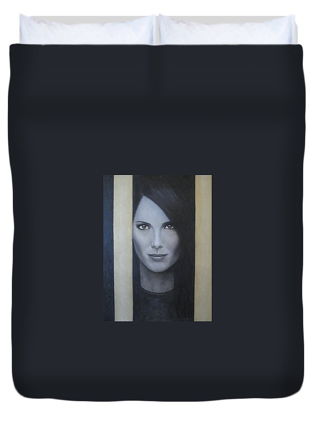 Hope Duvet Cover featuring the painting Hope by Lynet McDonald