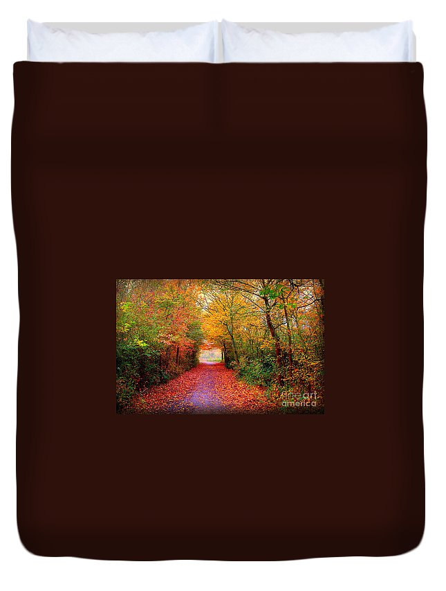 Autumn Duvet Cover featuring the photograph Hope by Jacky Gerritsen