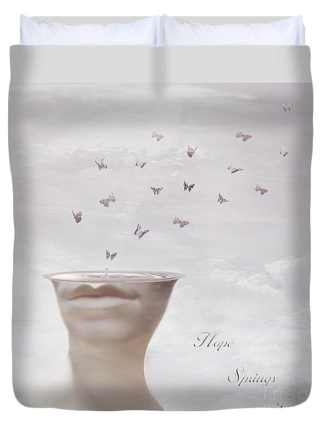 Surreal Duvet Cover featuring the digital art Hope Springs Eternal by Jacky Gerritsen