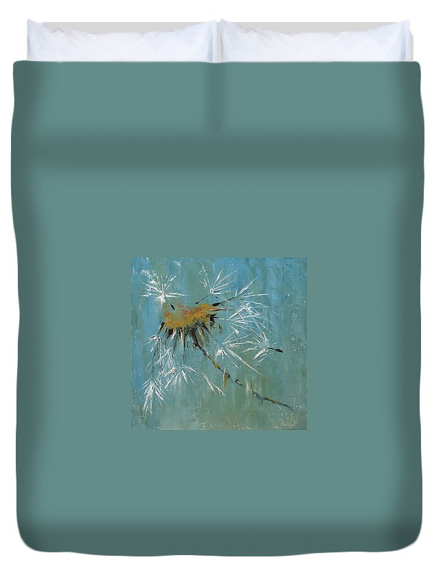 Plants Duvet Cover featuring the painting Hopes by Barbara Andolsek
