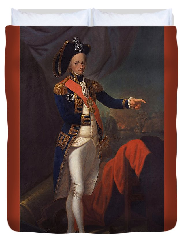 Painting Duvet Cover featuring the painting Horatio Nelson - Viscount Nelson by Mountain Dreams