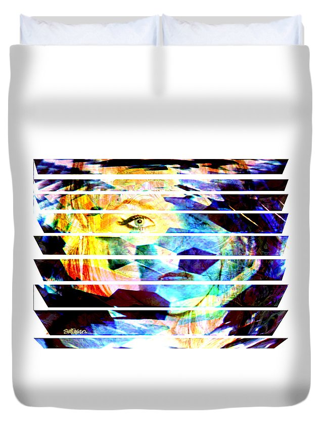 Woman Duvet Cover featuring the digital art Horizontal View by Seth Weaver