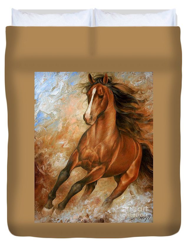 Horse Duvet Cover featuring the painting Horse1 by Arthur Braginsky