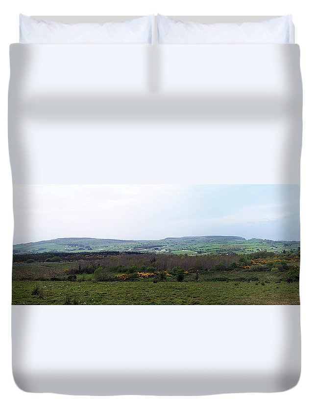 Ireland Duvet Cover featuring the photograph Horses At Lough Arrow County Sligo Ireland by Teresa Mucha