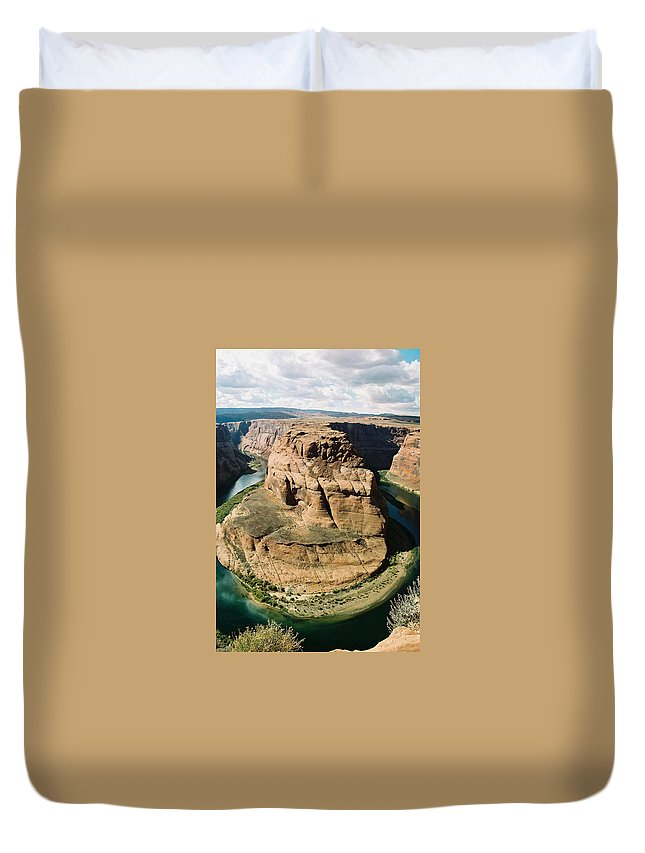 Arizona Duvet Cover featuring the photograph Horseshoe Bend by Cathy Franklin