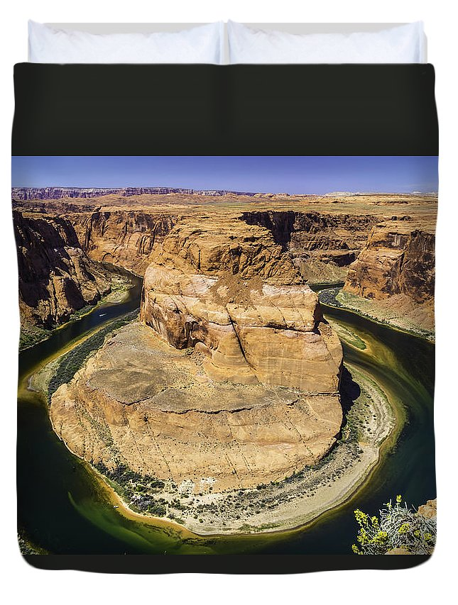 Horseshoe Bend Duvet Cover featuring the photograph Horseshoe Bend by Eddie Daniels