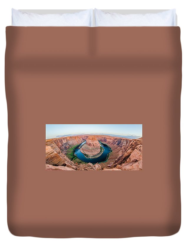 Bend Duvet Cover featuring the photograph Horseshoe Bend Near Page Arizona by Alex Grichenko