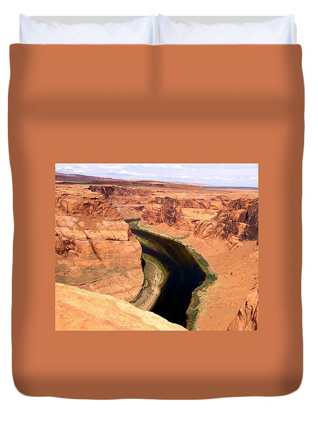 River Duvet Cover featuring the photograph Horseshoe Bend by Sarah Avignone