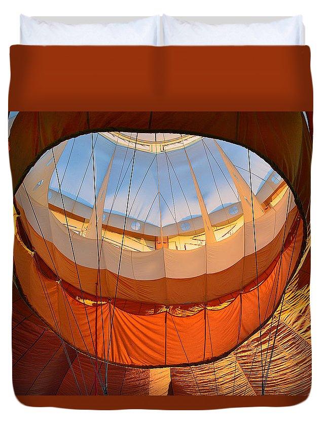 Duvet Cover featuring the photograph Hot Air Ballon 5 by Felicia Tica
