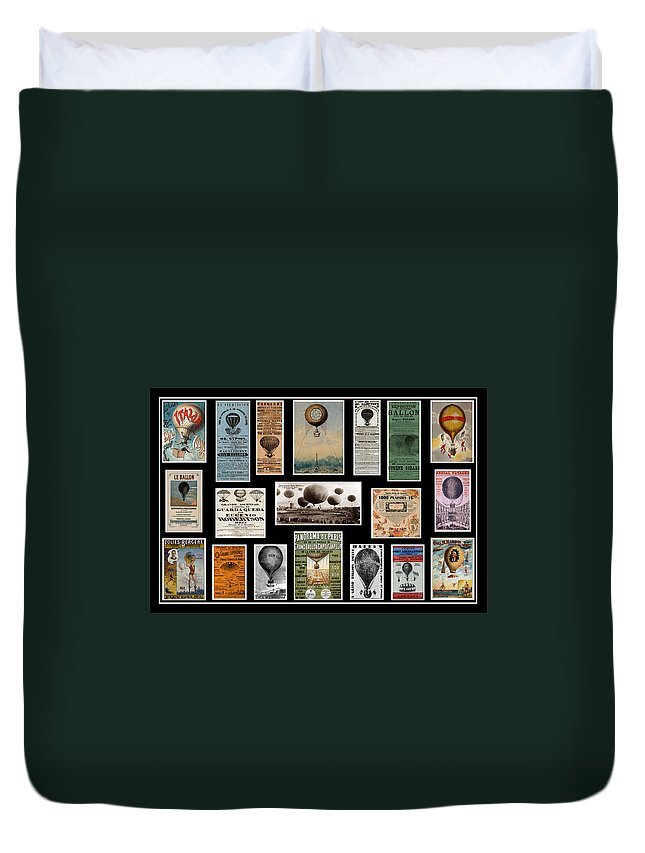 Hot Air Balloons Duvet Cover featuring the photograph Hot Air Balloon Posters by Andrew Fare