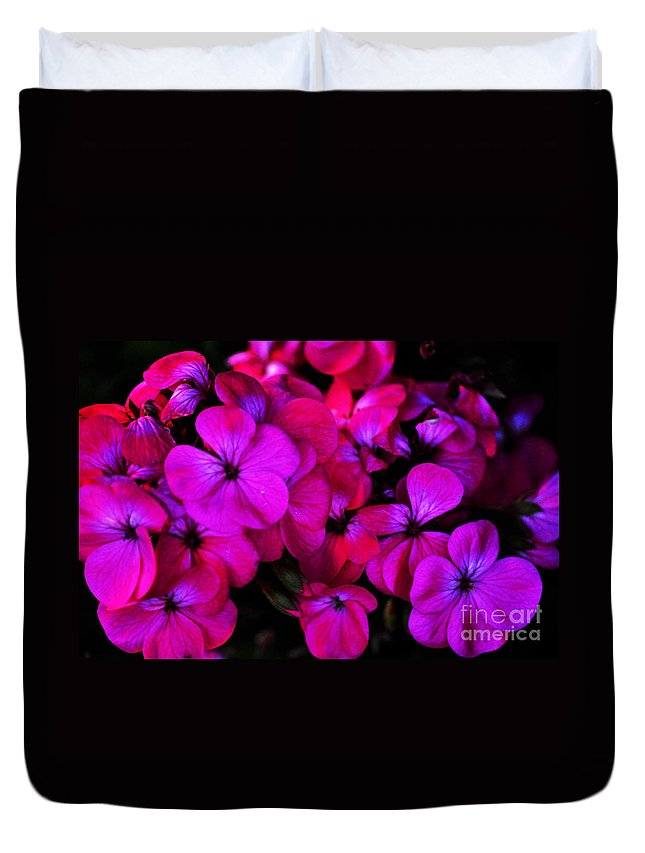 Clay Duvet Cover featuring the photograph Hot Pink Florals by Clayton Bruster