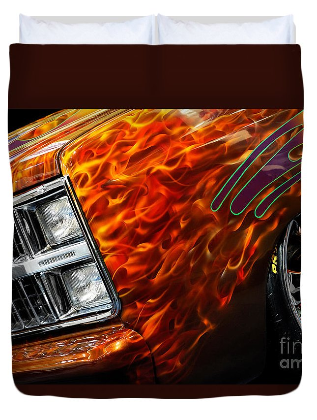 Hot Rod Duvet Cover featuring the photograph Hot Rod Chevrolet Scotsdale 1978 by Oleksiy Maksymenko