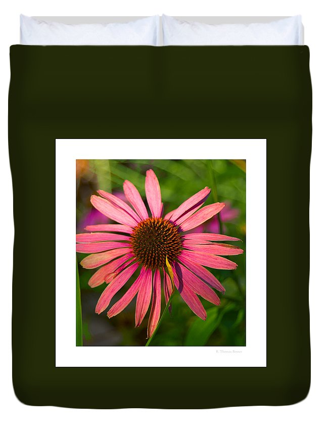 Duvet Cover featuring the photograph Hotel Garden by R Thomas Berner