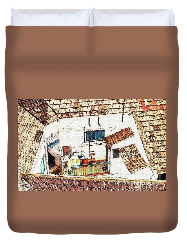 House Duvet Cover featuring the photograph House In Santiago De La Ribera by Sarah Loft
