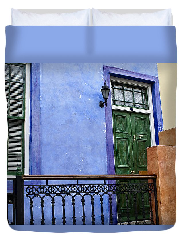 Africa Duvet Cover featuring the photograph House Of Color 2 by Michele Burgess