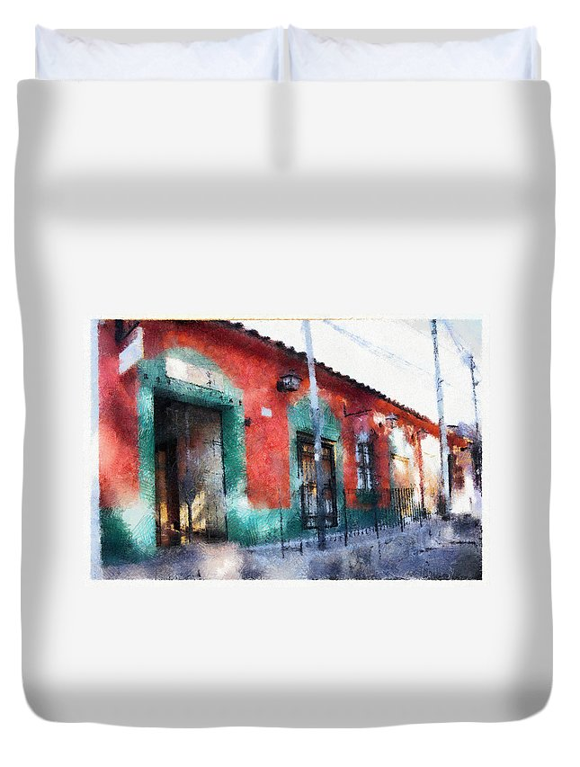 Duvet Cover featuring the photograph House Of El Hatillo by Galeria Trompiz