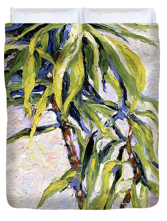 Yucca Duvet Cover featuring the painting House Plant by Lewis Bowman