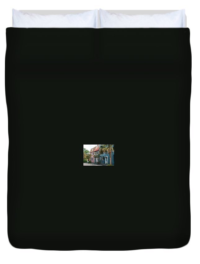 Photography Duvet Cover featuring the photograph Houses In Charleston Sc by Susanne Van Hulst