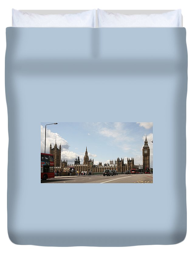 Big Duvet Cover featuring the photograph Houses Of Parliament. by Christopher Rowlands