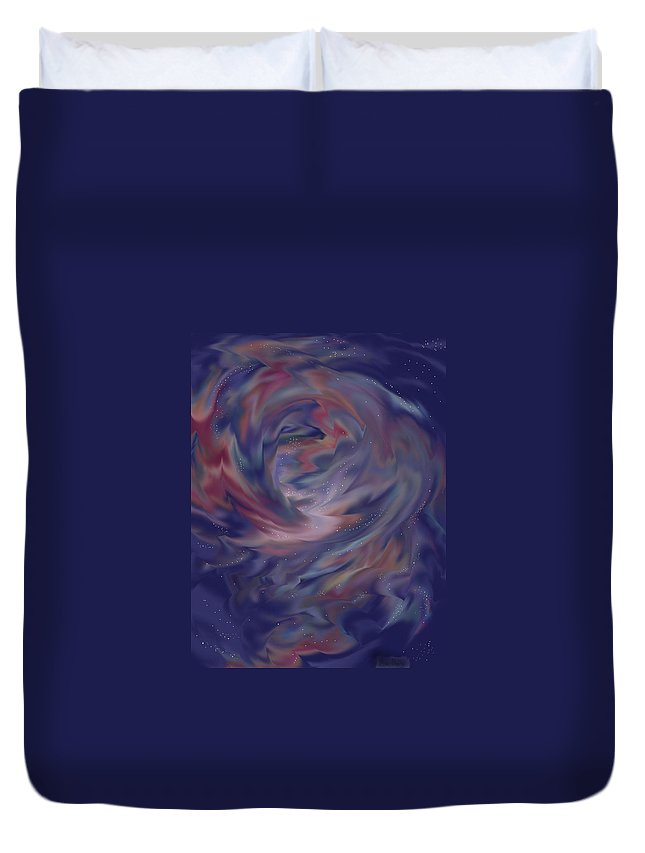 Starscape Duvet Cover featuring the painting Hubble One by Anne Norskog