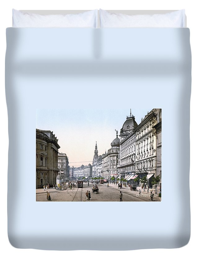 1895 Duvet Cover featuring the photograph Hungary: Budapest, C1895 by Granger