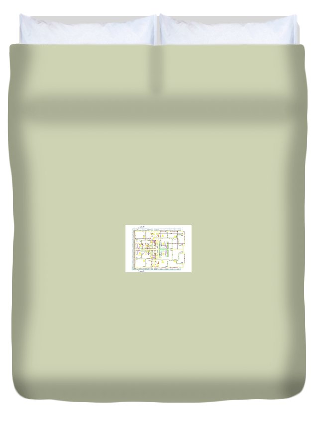 Mep Shop Drawing Services Duvet Cover featuring the digital art Hvac Shop Drawing by Na