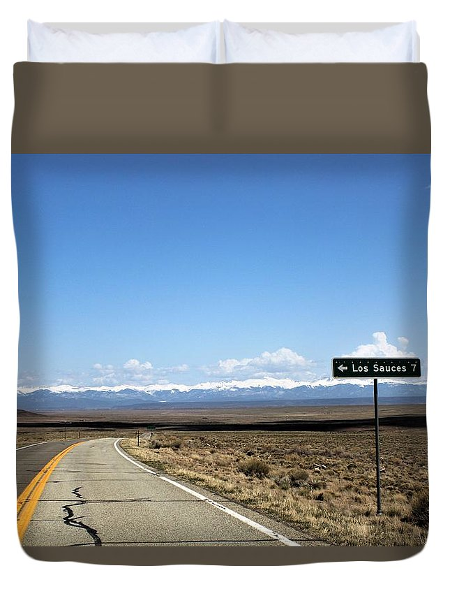 Duvet Cover featuring the photograph Hwy 142 Heading To San Luis by Carla Larson