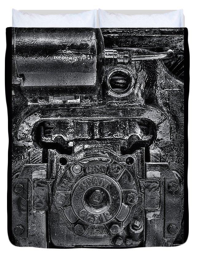 Train Duvet Cover featuring the photograph Hyatt Bearings by Scott Wyatt