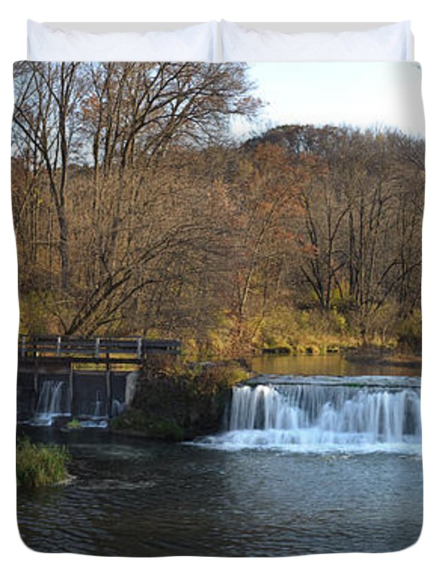 Creek Duvet Cover featuring the photograph Hyde Mill Wisconsin by Steve Gadomski