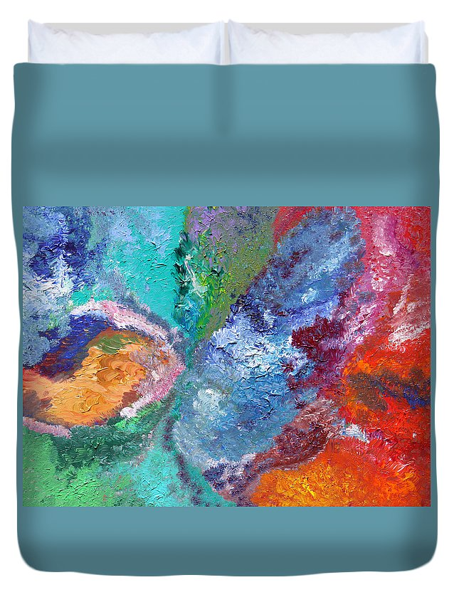 Fusionart Duvet Cover featuring the painting Hydrangea by Ralph White