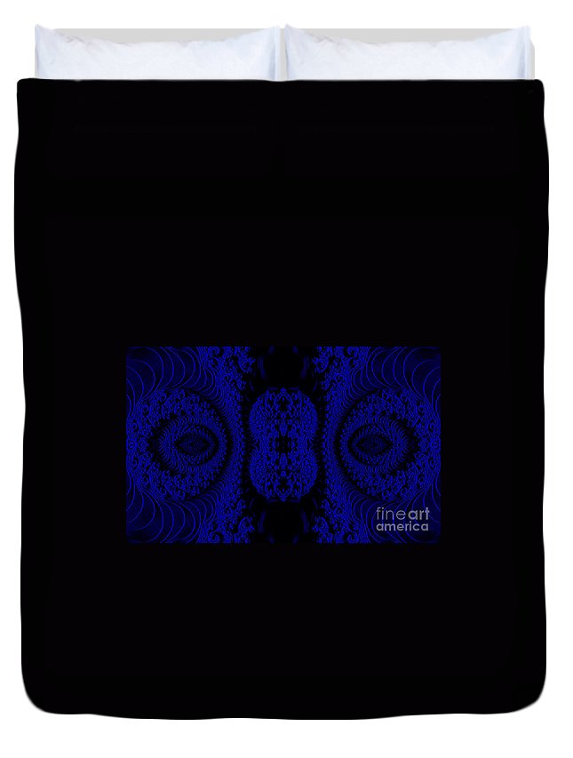 Clay Duvet Cover featuring the digital art Hyper Tidal Blue by Clayton Bruster