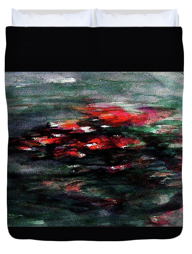 Abstract Duvet Cover featuring the painting Hypnotic Alterations by William Russell Nowicki