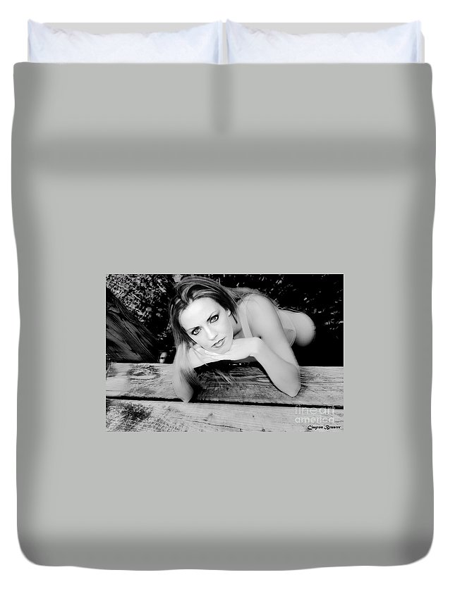 Clay Duvet Cover featuring the photograph Hypnotic Eyes by Clayton Bruster