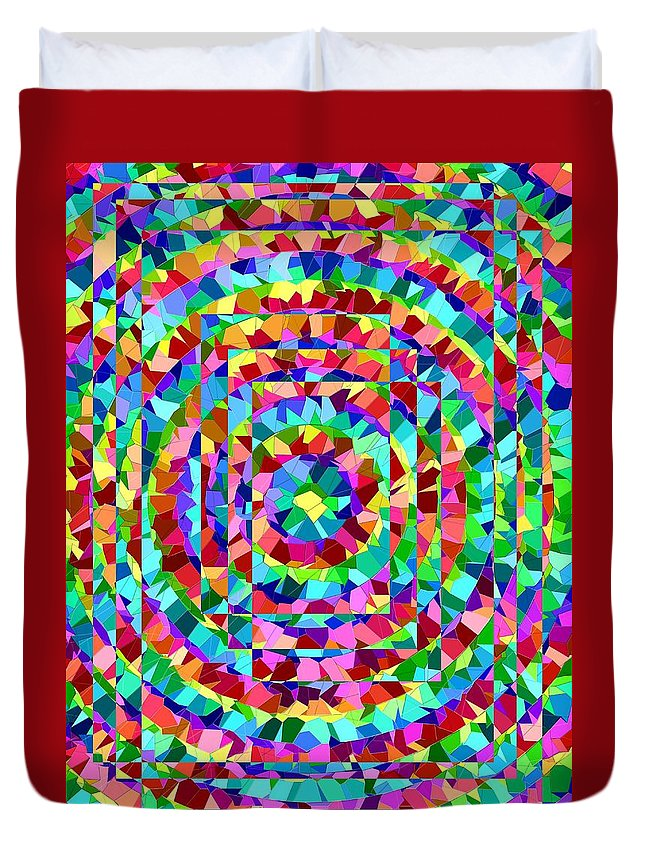 Hypnotic Duvet Cover featuring the digital art Hypnotic by Tim Allen
