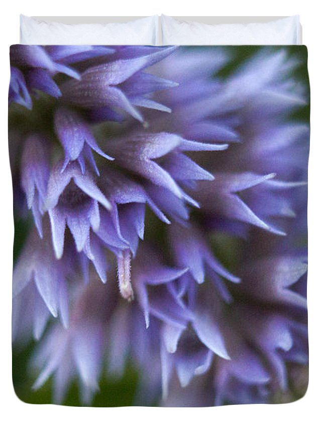 Anise Duvet Cover featuring the photograph Hyssop Blue by Eileen Parzek