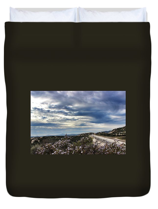Highway Duvet Cover featuring the photograph I-8 Highway by Shaina Najim