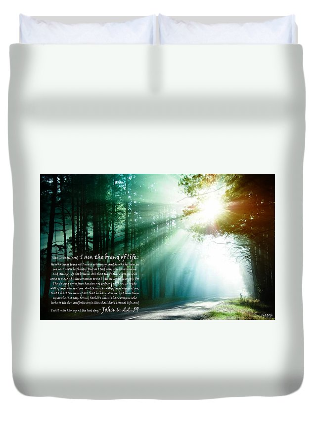 Jesus Duvet Cover featuring the digital art I Am The Bread Of Life by Alexis Moreno Plariza