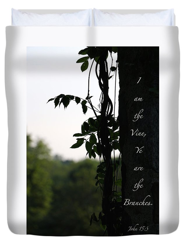 Nature Duvet Cover featuring the photograph I Am The Vine by Debbie Nobile
