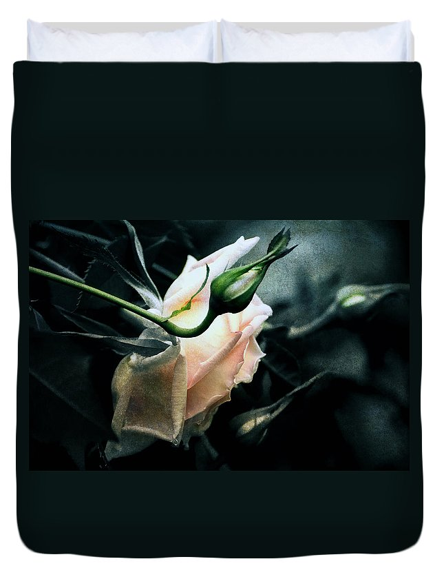 Rose Duvet Cover featuring the digital art I Am Your Ghost Of A Rose by Georgiana Romanovna