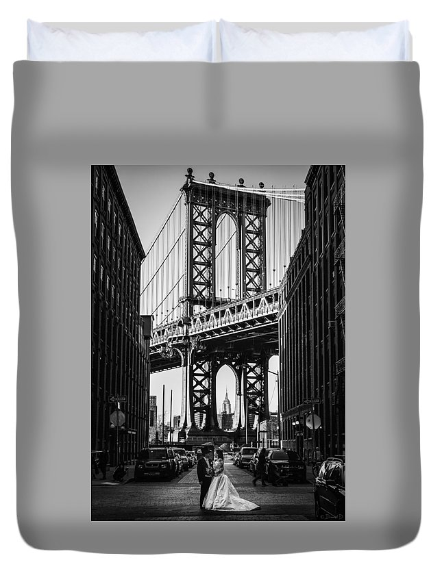 Brooklyn Duvet Cover featuring the photograph I Do... by David Dedman