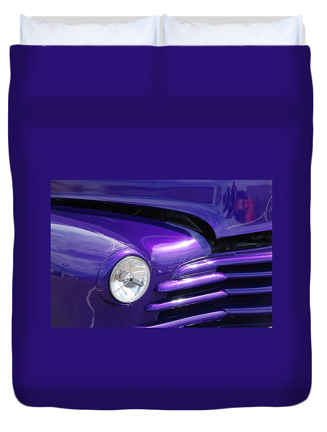 Cars Duvet Cover featuring the photograph I Drove The Shevy by Susanne Van Hulst