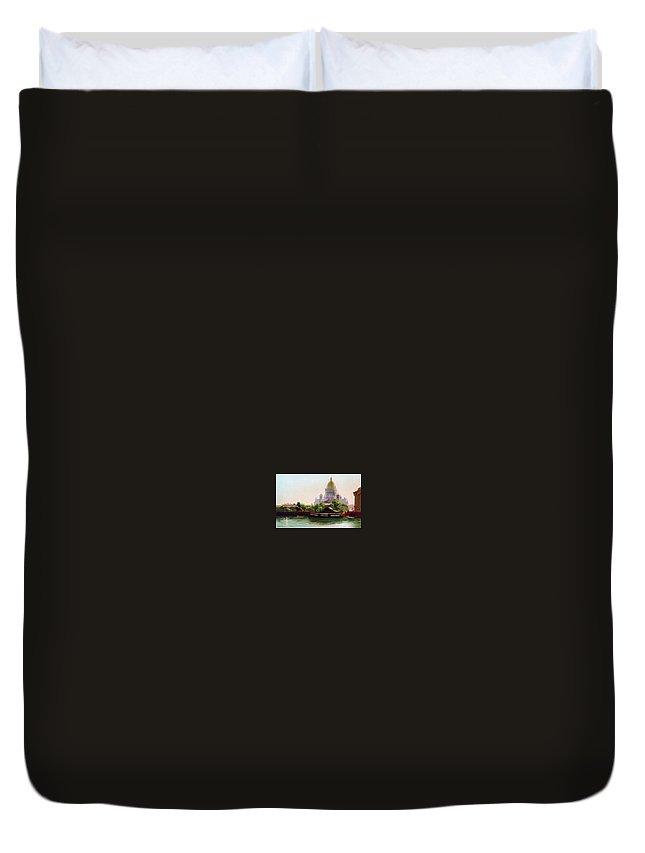 Building Duvet Cover featuring the digital art  I Gavriil Kondratenko by Eloisa Mannion