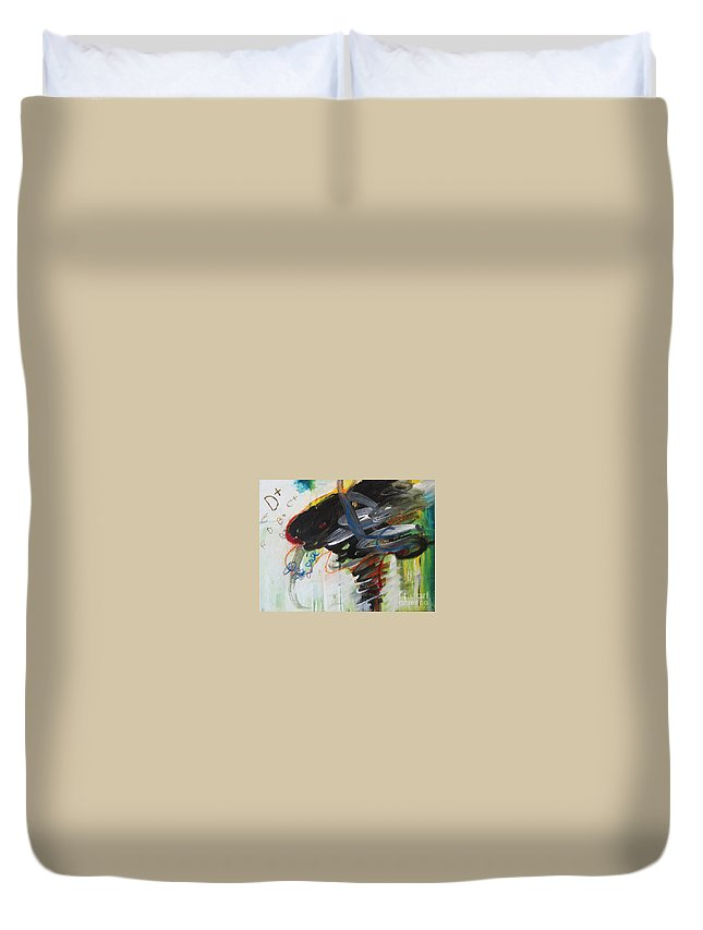 Abstract Paintings Paintings Abstract Art Paintings Duvet Cover featuring the painting I Got D by Seon-Jeong Kim