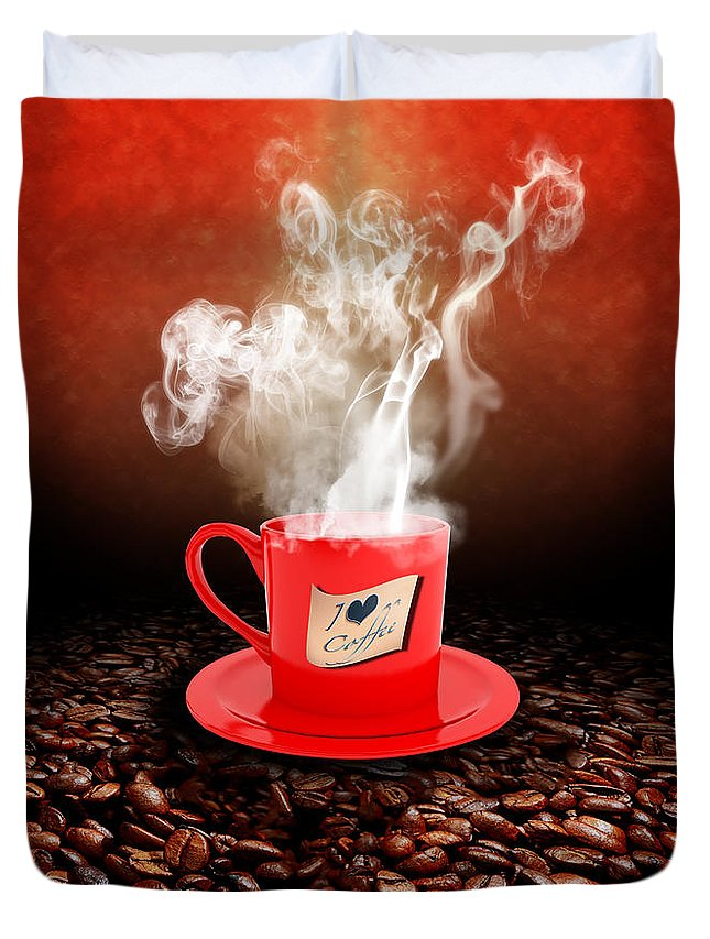 Coffee Duvet Cover featuring the photograph I Love Coffee by Stefano Senise