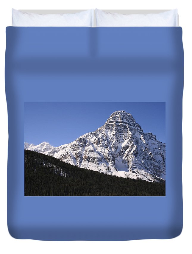 Rocky Mountains Duvet Cover featuring the photograph I Love The Mountains Of Banff National Park by Tiffany Vest