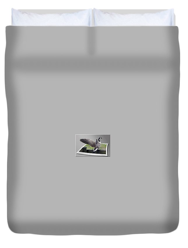 2d Duvet Cover featuring the photograph I Made It by Brian Wallace